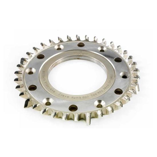Truciolatore monoblocco diritto - H=6 mm utensil centro
