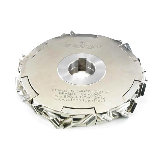 Teste antischeggia regolabili per squadratrici o bordatrici (Assiale 30°) utensil centro
