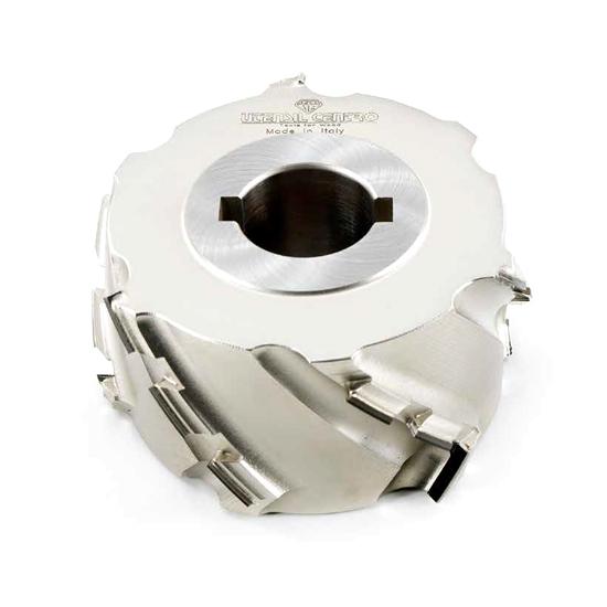 Teste antischeggia o a finire per macchine squadratrici o bordatrici (AXIAL 45°) - H=5 mm utensil centro